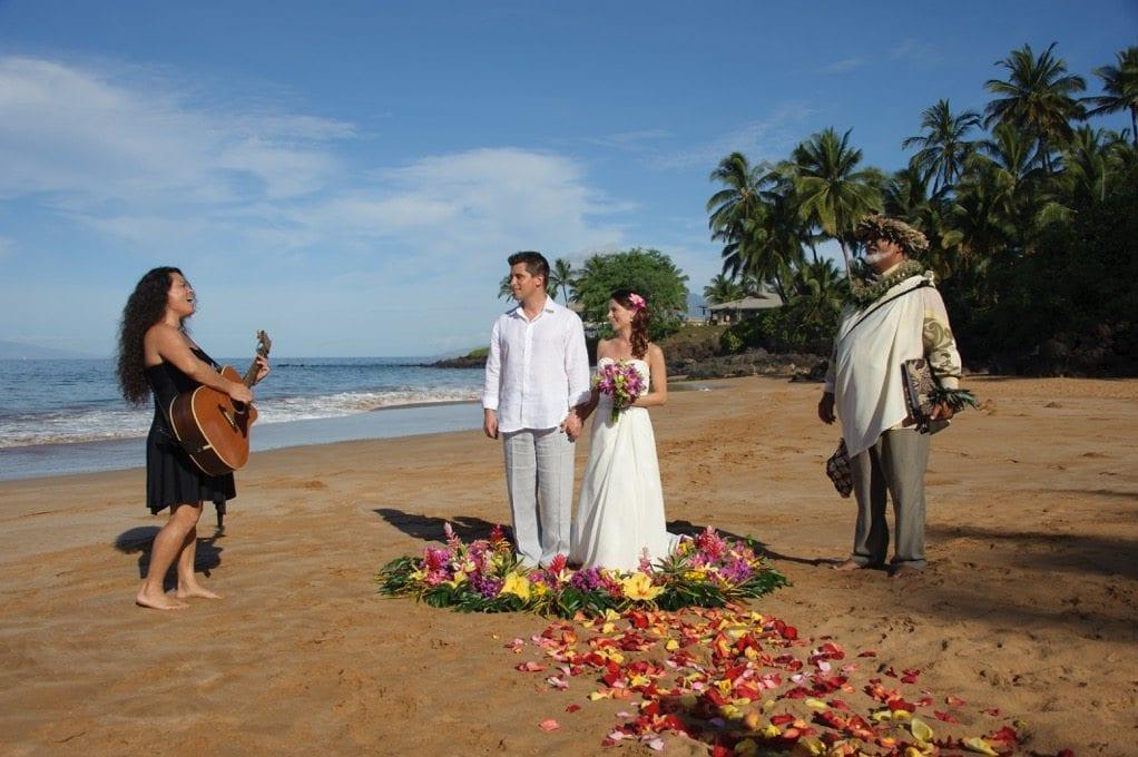 Private Maui Wedding Beach